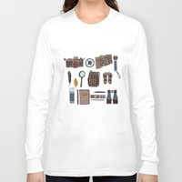 kit king Long Sleeve T-shirts featuring Explorers kit by Laura Barnes