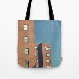 mid century building Tote Bag