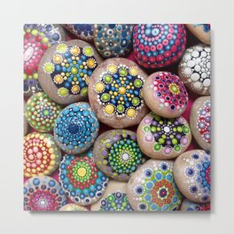 Dot Art Painted stones Collection #3 Metal Print