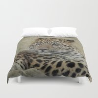 leo Duvet Covers featuring leo by lucyliu