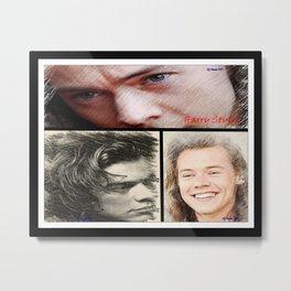 Harry Styles, One Direction, 1D, 1dFanArt Metal Print