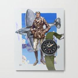 IWC Timezoner Spitfire Metal Print