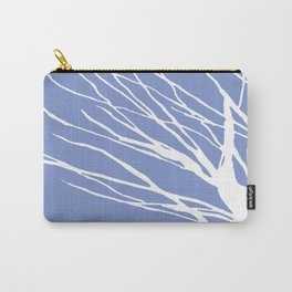 Tree Silhouette Periwinkle Blues Carry-All Pouch
