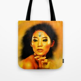 Green Eyed Beauty Tote Bag