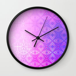 Diamonds Going On Forever (violet) Wall Clock