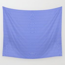 Cobalt Blue and White Horizontal Thin Pinstripe Pattern Wall Tapestry