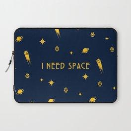I Need Space (Dark) Pattern w/ Text Laptop Sleeve