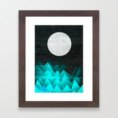 Night Waves Framed Art Print