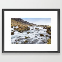 Iceland Waterfall Framed Art Print