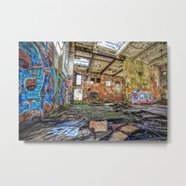 Abandoned old woolen mill factory Metal Print