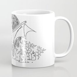 Bat with halloween candle Coffee Mug