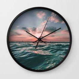 water sunset Wall Clock