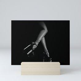 Sexy legs in high platform heels Mini Art Print