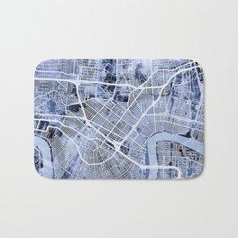 New Orleans Street Map Bath Mat
