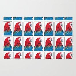 Scarlet Macaw Pattern print Rug