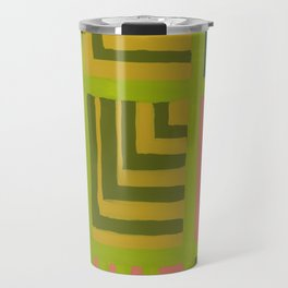 Painted Color Block Squares Travel Mug