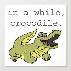In A While Crocodile, Dark Canvas Print