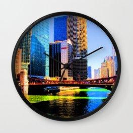 Clark St. Bridge, Chicago (Pop) Wall Clock