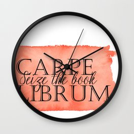 Carpe Librum Wall Clock