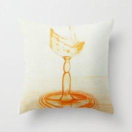 Orange Glass Throw Pillow