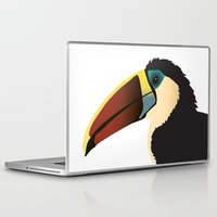 toucan Laptop & iPad Skins featuring Toucan by Frida Strömshed