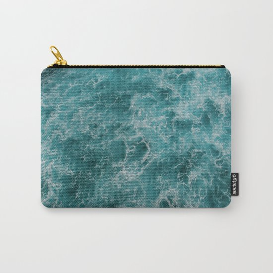 faded waves Carry-All Pouch