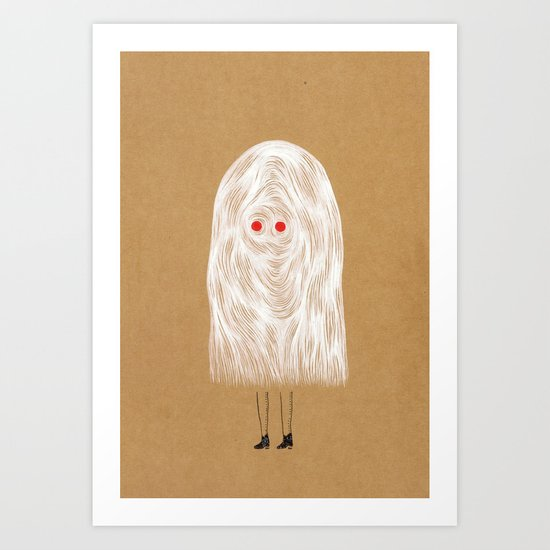 Glam Ghost Art Print