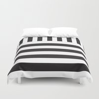 piano Duvet Covers featuring Piano by Vadeco