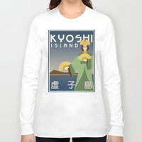 travel poster Long Sleeve T-shirts featuring Kyoshi Island Travel Poster by HenryConradTaylor