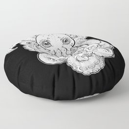 Cthulhu (B&W Version I) Floor Pillow