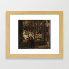 Shop Window, Isaac Israels, 1894 Framed Art Print
