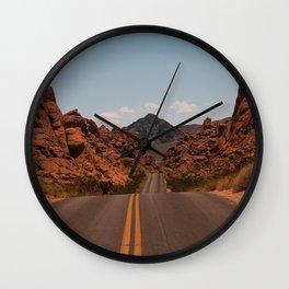 Valley of Fire Desert Road Wall Clock