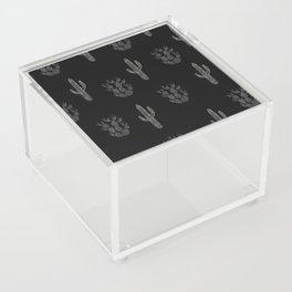 Cactus Pattern Black Acrylic Box
