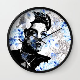 LADY AND ORCHIDS Wall Clock