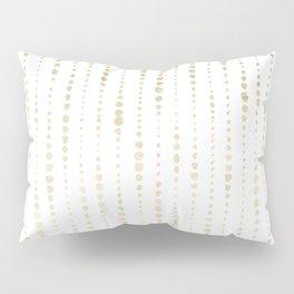 NYC Nights Gold Polka Dot Stripes Pillow Sham