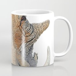 Warthog Phacochoerus Face Mammal Horrid Crushed Doormat Texture Coffee Mug