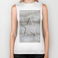 solid Biker Tanks featuring Solid Star by LebensART