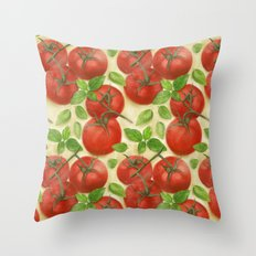 Tomato Salad Pattern Throw Pillow