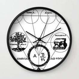 The Origins of Alchemy Wall Clock