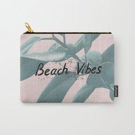 Ficus Elastica BEACH VIBES #1 #typo #decor #art #society6 Carry-All Pouch