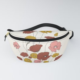 Colorful Poppy Flowers Fanny Pack