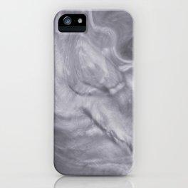 Pantone Lilac Gray Flowing Pearlescent Haze, Opalescent Fluid Art iPhone Case