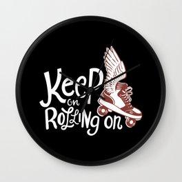 Roller Skating - Roller Derby - Roller Skate Girls Wall Clock