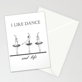 three ballerinas dancing  ( https://society6.com/vickonskey/collection ) Stationery Cards
