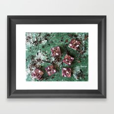 Digging in the dirt Framed Art Print