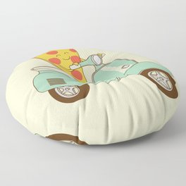 pizza delivery Floor Pillow