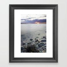 Sunset Beach Framed Art Print