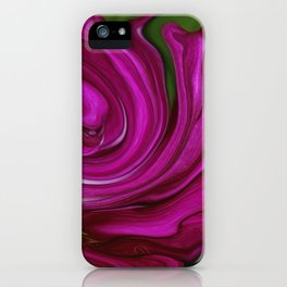 Pink Floral Swirl iPhone Case