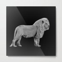 White Lion Pose Metal Print