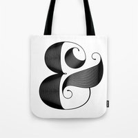 ampersand Tote Bags featuring Ampersand by Jude Landry